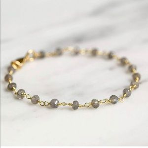 Flash Labradorite Gemstone Gold fill Bracelet